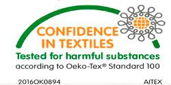 Gonfaus dispone del certificado OEKO-TEX, clase de productos II.